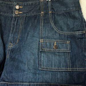 Plus size low waist denim jean shorts